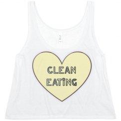 Clean Eating White Tank