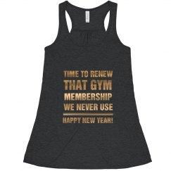 New Year's Gym Membership Humor