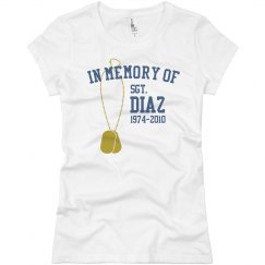 Dog Tag In Memory Of