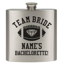 Team Bride Custom Flask