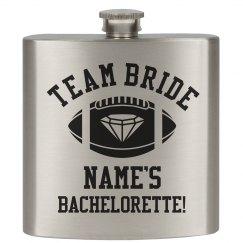 Team Bride Custom Flask