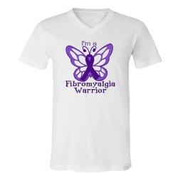 Fibromyalgia Warrior V-Neck Tee