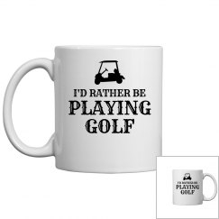 Rather be playing golf