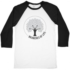 Men's/Unisex 3/4 Sleeve Baseball T-Shirt