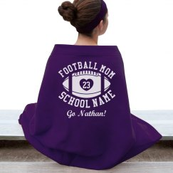 Cozy Friday Night Football Mom Blanket With Name Number
