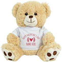 Happy Valentine's Day Custom Unicorn Plush