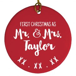 Our First Christmas Custom Ornament