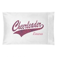 Cheer Pink Leopard Pillow