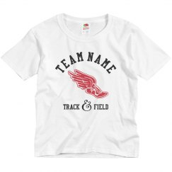 Custom Team Name Track And Field Kids