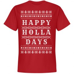 Happy Holla Days Red