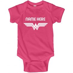 Custom Baby Name Wonder Girl Onesie