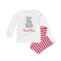 Baby Bear Custom Name Striped PJ's