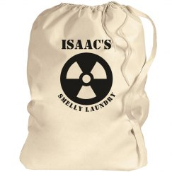 Isaac's laundry bag
