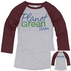 Planet Green Team Baseball Style