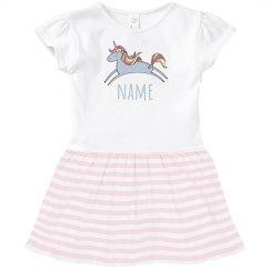 Custom Text Unicorn Dress