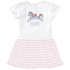 Custom Text Unicorn Dress