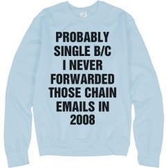 Funny Single Quotes Text Sweater