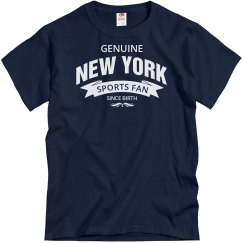 Genuine New York Sports fan