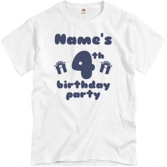 Custom Name's 4th Birthday