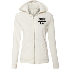 Personalized Eco-Fleece Zip Hoodie