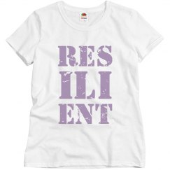 RESIIENT Lavender Text T-Shirt