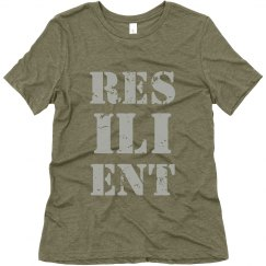 RESILIENT Silver Text Ladies T-Shirt