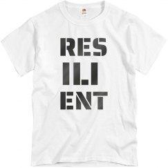 RESILIENT Gun Metal Text Unisex T-Shirt