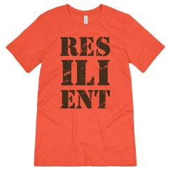 RESILIENT Brown Text Unisex Jersey T-Shirt