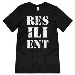 RESILIENT White Text Unisex Jersey T-Shirt