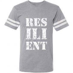RESILIENT White Text Unisex Sports T-Shirt