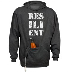RESILIENT White Text Unisex Heavyweight Hoodie