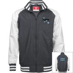 Grey Jacket- glitter lettering
