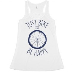 Just Bike And Be Happy Tank
