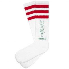 Christmas CHEER! Socks With Custom Name and Colors