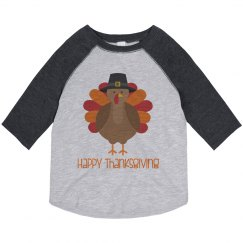 Happy Thanksgiving Turkey Toddler Shirt