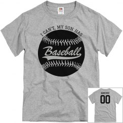 My Son Has Baseball Custom