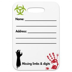 Zombie Luggage tag