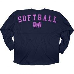 Cute Metallic Softball Jersey