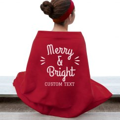 Merry & Bright Custom Holiday Blanket