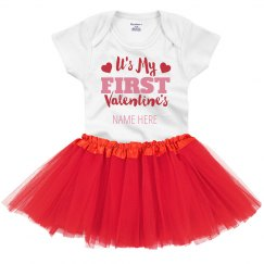 Custom Baby's First Valentine's Tutu Set