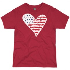 Distressed Flag Heart