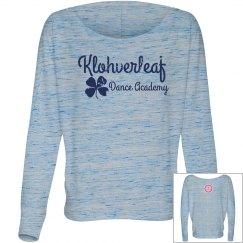 Women's Flowy-Fit long sleeved shirt in grey marble