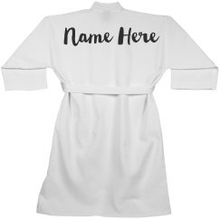 Personalized Name Spa Robe