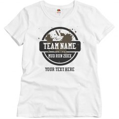 Mud Run Team Customized Shirt