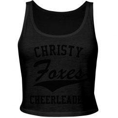 Cheerleader crop tank