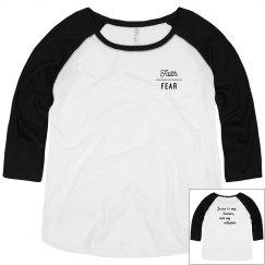 Faith Over Fear plus size scoop neck