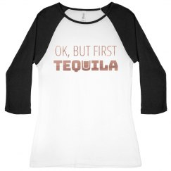 But First Tequila Metallic Raglan