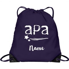 Personalized Drawstring bag APA