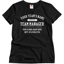 Custom Team Manager Shirt