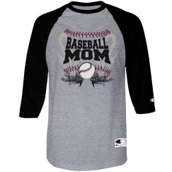 Baseball mom tribal blue